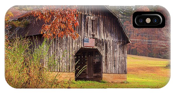 IPhone Case featuring the photograph Rustic Barn In Autumn by Doug Camara