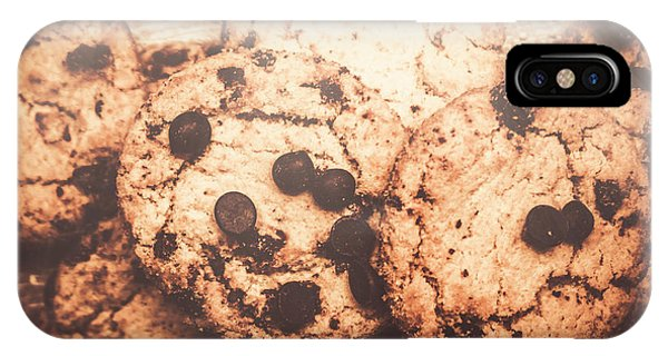 Chip iPhone Case - Rustic Chocolate Chip Cookie Snack by Jorgo Photography - Wall Art Gallery