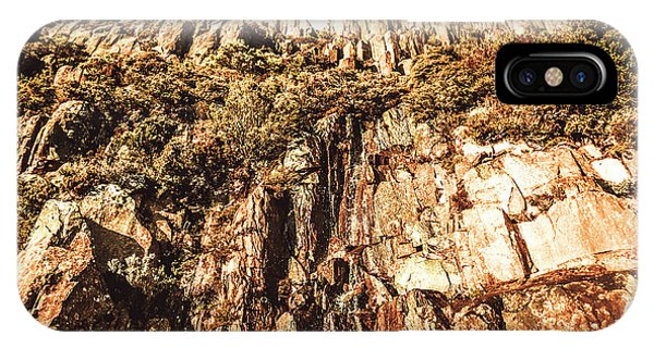 Rock Formation iPhone Case - Rustic Cliff Spring by Jorgo Photography - Wall Art Gallery