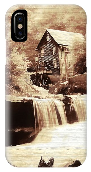 Rustic Glade Creek Grist Mill IPhone Case
