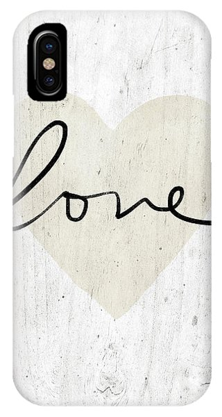 Wood iPhone Case - Rustic Love Heart- Art By Linda Woods by Linda Woods