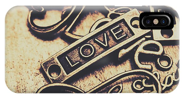 Jewelery iPhone Case - Rustic Love Icons by Jorgo Photography - Wall Art Gallery