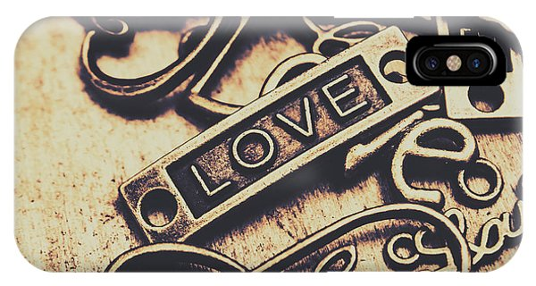 Left iPhone Case - Rustic Love Icons by Jorgo Photography - Wall Art Gallery
