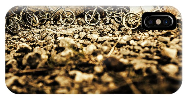 Mountainous iPhone Case - Rustic Mountain Bikes by Jorgo Photography - Wall Art Gallery