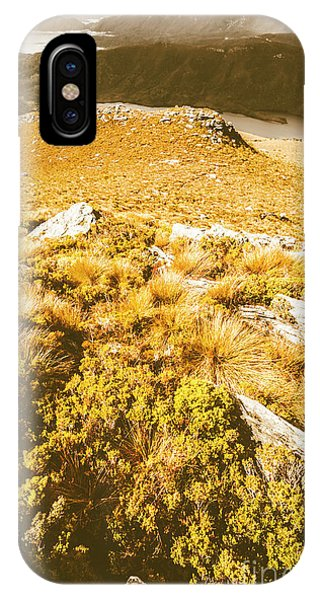 Distant iPhone Case - Rustic Mountain Terrain by Jorgo Photography - Wall Art Gallery