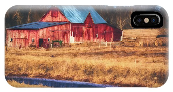 Rustic Red Barn IPhone Case