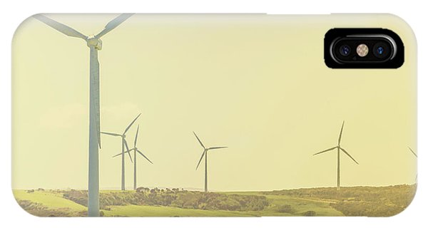 Windmill iPhone Case - Rustic Renewables by Jorgo Photography - Wall Art Gallery