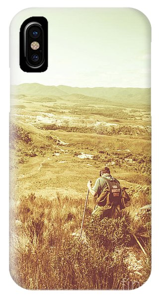 Hiking Path iPhone Case - Rustic Rural Bushwalking Landscape by Jorgo Photography - Wall Art Gallery