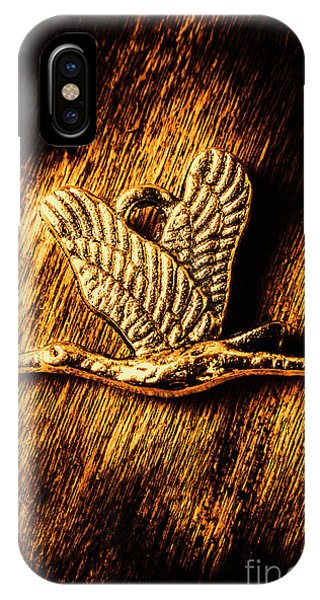 Jewelery iPhone Case - Rustic Stork Pendant by Jorgo Photography - Wall Art Gallery
