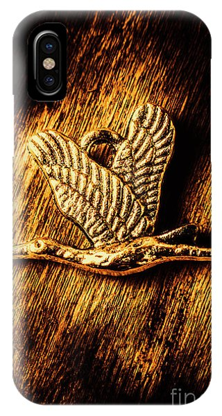 Luxury iPhone Case - Rustic Stork Pendant by Jorgo Photography - Wall Art Gallery
