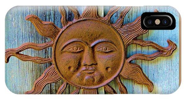Rustic Sunface IPhone Case
