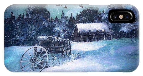 Rustic Winter Barn  IPhone Case