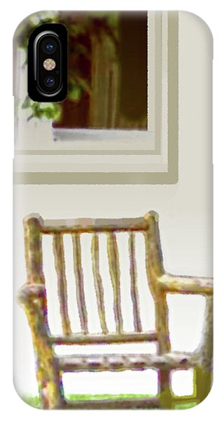 Rustic Wooden Rocking Chair IPhone Case