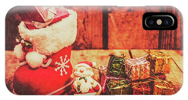 Santa Claus iPhone Case - Rustic Xmas Decorations by Jorgo Photography - Wall Art Gallery
