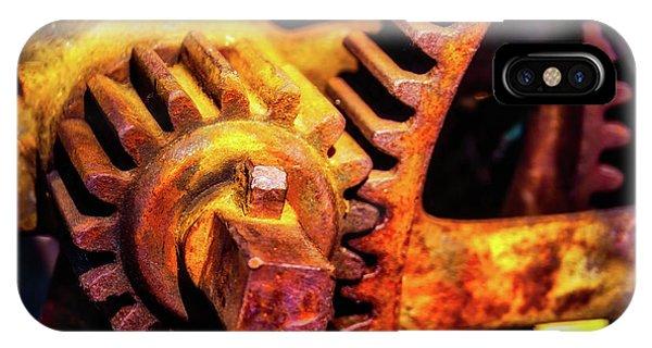 Rusting Train Yard Gear IPhone Case