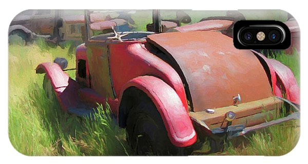 Rusty 1926 Chevy Cabriolet And Friends IPhone Case