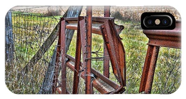 Timeworn iPhone Case - Rusty Gate by Pat Cook
