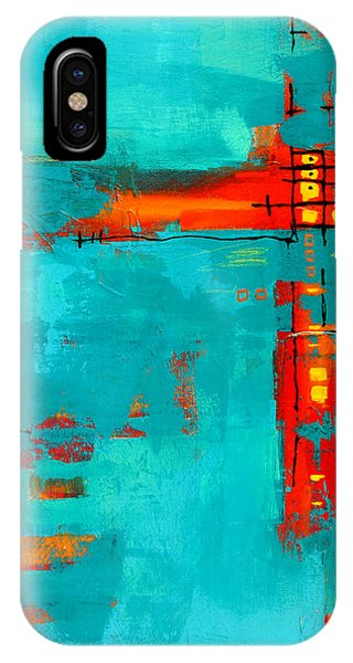 Aqua iPhone Case - Rusty by Nancy Merkle