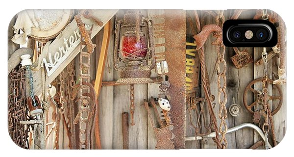 Timeworn iPhone Case - Rusty Treasures Photograph by Marnie Patchett