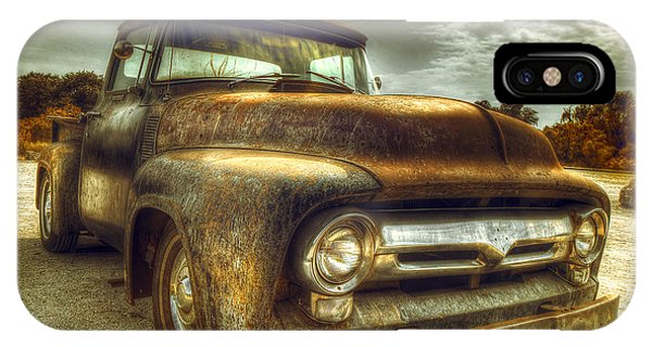 Truck iPhone X Case - Rusty Truck by Mal Bray