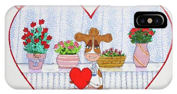 Ruthie-moo Happy Valentine's Day IPhone Case