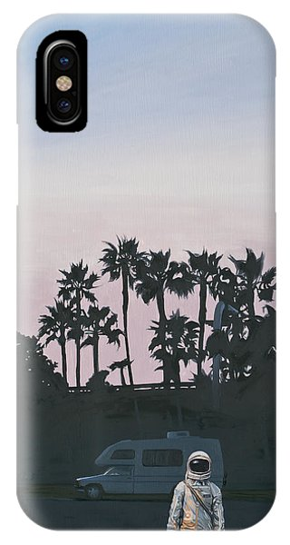 Palm Tree iPhone X Case - Rv Dusk by Scott Listfield