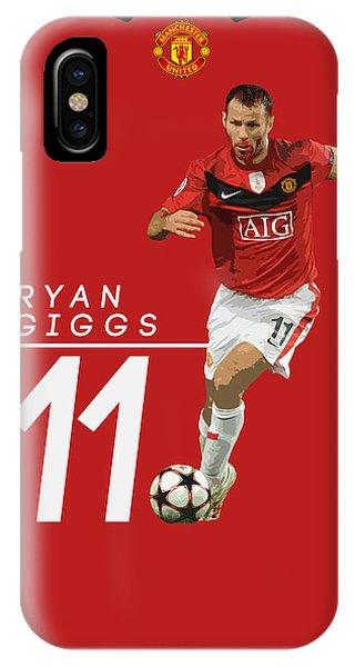 Wayne Rooney iPhone Case - Ryan Giggs by Semih Yurdabak