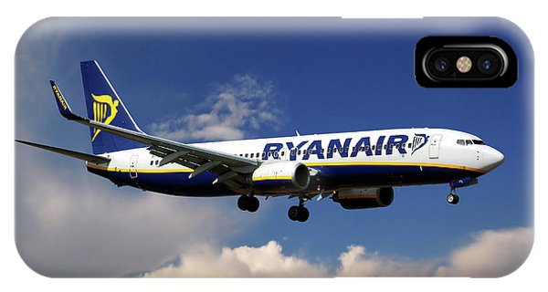 Airline iPhone Case - Ryanair Boeing 737-8as  by Smart Aviation