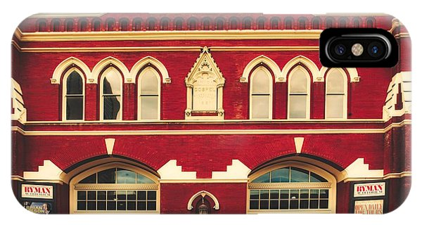 Ryman Auditorium iPhone Case - Ryman Auditorium -the Home Of Country Music by Library Of Congress