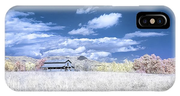 S C Upstate Barn Faux Color IPhone Case