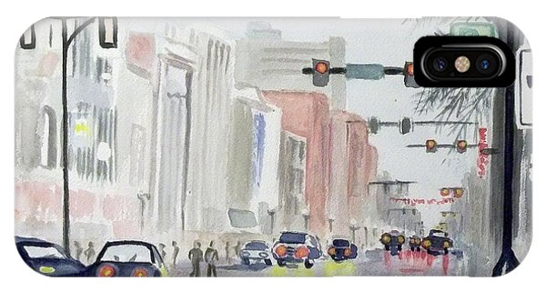 S. Main Street In Ann Arbor Michigan IPhone Case