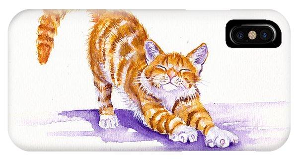 Cat iPhone Case - S-t-r-e-t-c-h by Debra Hall