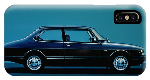 Oldtimer iPhone Case - Saab 90 1985 Painting by Paul Meijering