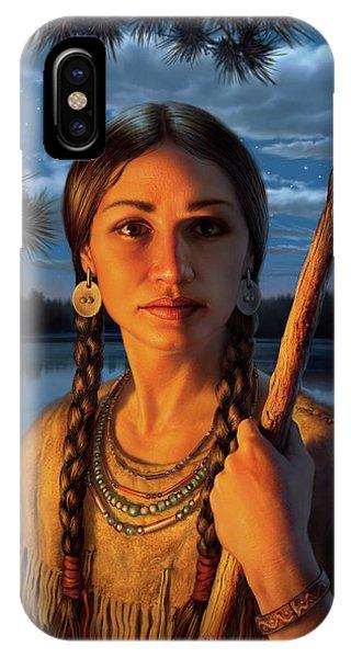 Explorer iPhone Case - Sacagawea by Mark Fredrickson