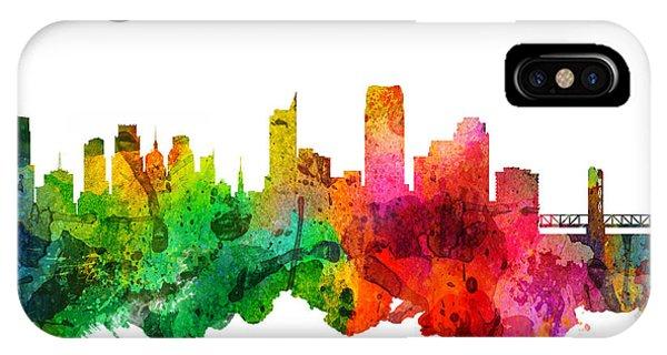 Sacramento iPhone X Case - Sacramento California 24 by Aged Pixel