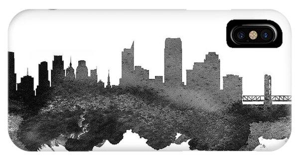 Sacramento iPhone X Case - Sacramento California Skyline 18 by Aged Pixel