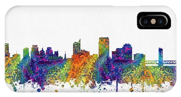 Sacramento iPhone X Case - Sacramento California Skyline Color03 by Aged Pixel