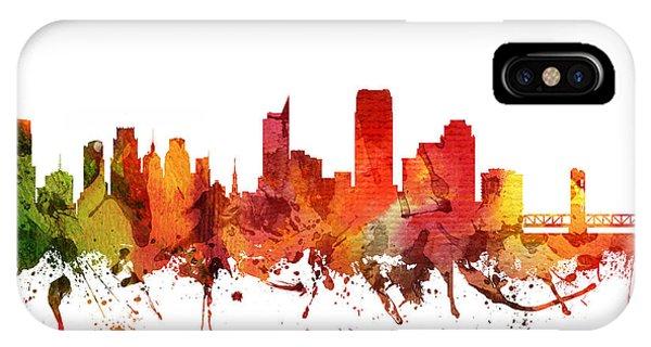 Sacramento iPhone X Case - Sacramento Cityscape 04 by Aged Pixel