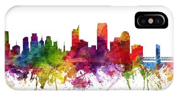 Sacramento iPhone X Case - Sacramento Cityscape 06 by Aged Pixel
