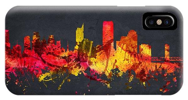 Sacramento iPhone X Case - Sacramento Cityscape 07 by Aged Pixel
