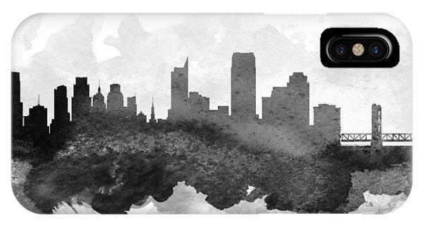 Sacramento iPhone X Case - Sacramento Cityscape 11 by Aged Pixel