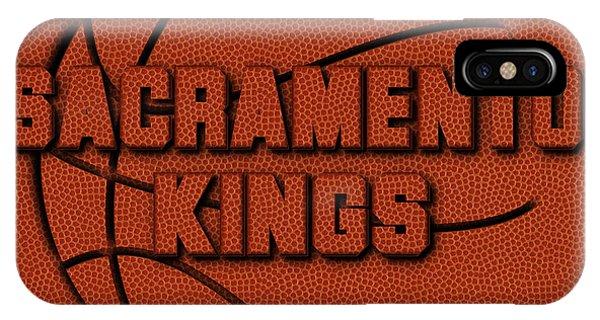 Sacramento iPhone X Case - Sacramento Kings Leather Art by Joe Hamilton