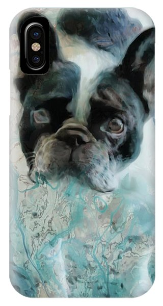 French Bull Dog iPhone Case - Sacre Bleu  by Barbara Chichester