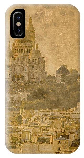 Paris, France - Sacre-coeur Oldplate IPhone Case
