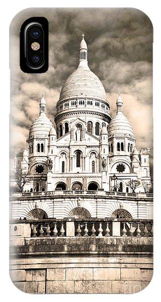Sacre Coeur Sepia IPhone Case