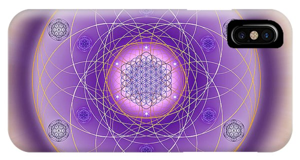 IPhone Case featuring the digital art Sacred Geometry 704 by Endre Balogh
