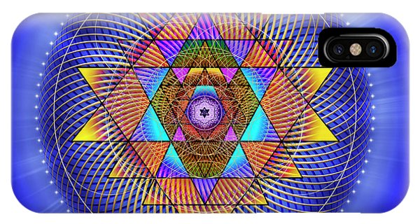 IPhone Case featuring the digital art Sacred Geometry 705 by Endre Balogh