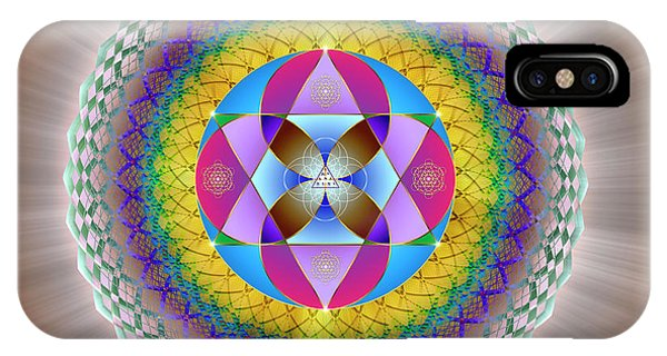 IPhone Case featuring the digital art Sacred Geometry 706 by Endre Balogh