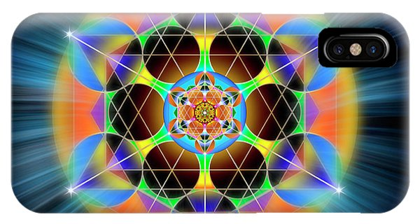 IPhone Case featuring the digital art Sacred Geometry 709 by Endre Balogh