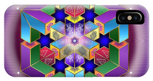 IPhone Case featuring the digital art Sacred Geometry 711 by Endre Balogh